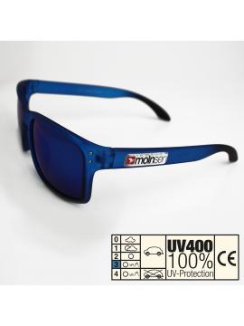 moinsen® Wayfarer, matt transparent, blau-schwarz