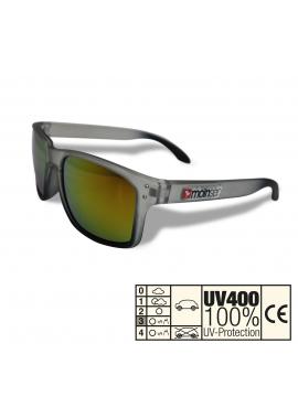 moinsen® Wayfarer, matt transparent, grau-schwarz