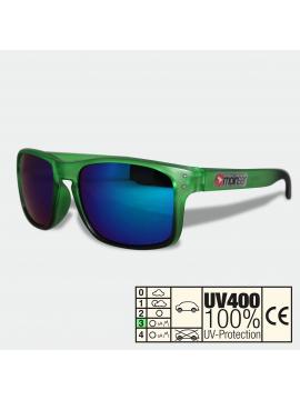 moinsen® Wayfarer, matt transparent, grün-schwarz