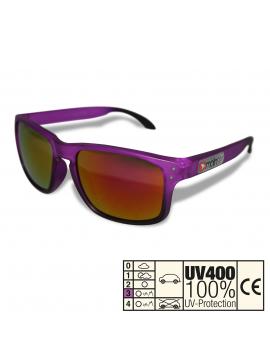 moinsen® Wayfarer, matt transparent, violet-schwarz