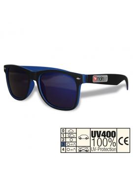 moinsen® Wayfarer, Soft-Touch, schwarz-blau