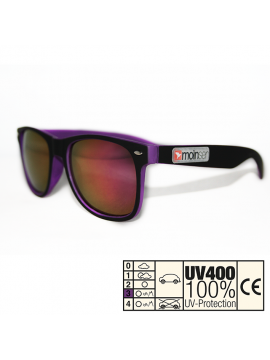 moinsen® Wayfarer, Soft-Touch, schwarz-violet